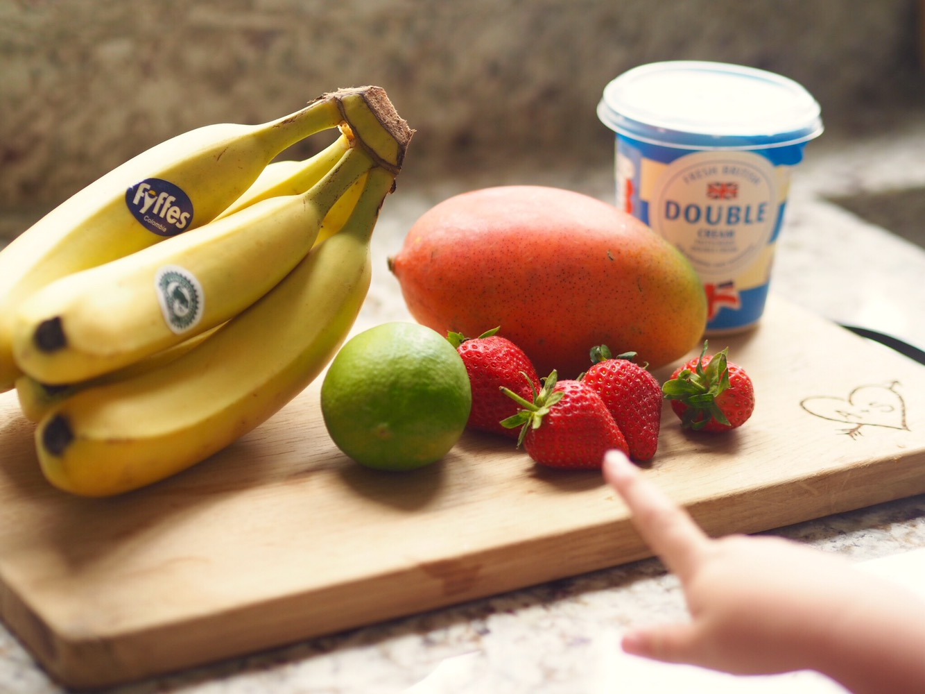 Fruit ice lollies with Tommee Tippee steamer blender