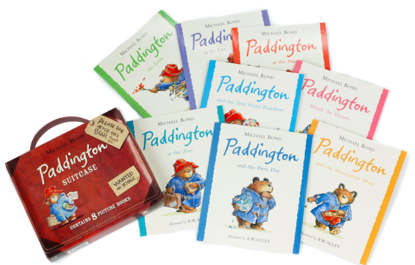 Paddington suitcase of books