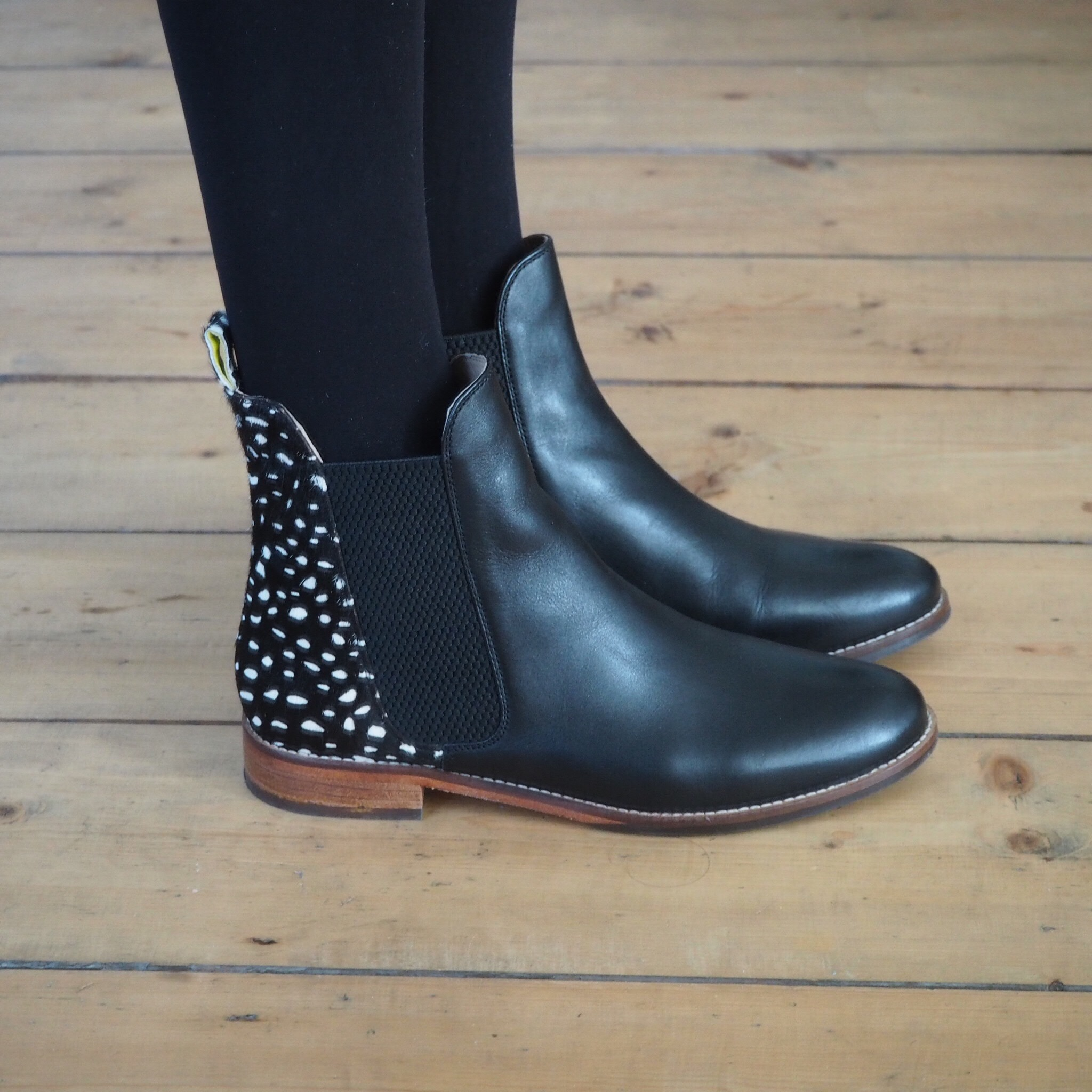 Joules pony skin Chelsea boots